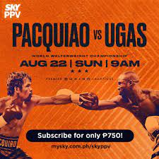 Pacquiao's return against Ugas live on ...