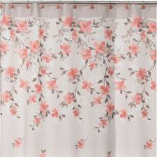 floral shower curtain. Saturday Knight Coral Garden Floral Shower Curtain