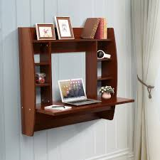 office desk with shelves. Charming Wall Mount Office Desk For Your Design: Contemporary Cherry With Shelves R
