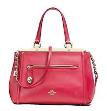 Coach Satchel in Smooth Leather Red Handbag Top handle