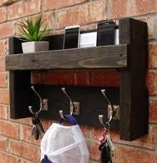 Coat Key Rack Rustic Entryway Foyer 100 Hanger Hook Coat Rack Mail Holder Phone 22