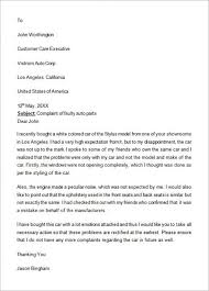 Letters Of Complaint Formal Complain Letters Template Business