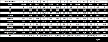 Shoe Size Conversion Chart Us To Uk Lyst Shoe Size Chart Wolf Stag