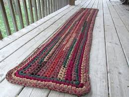 rag rug runner harvest table runner rug crochet rag rug long rectangle table cotton washable rag rag rug runner