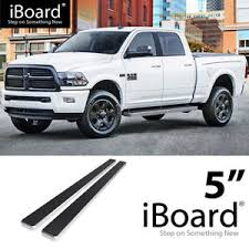 Details about Running Board Side Step 5in Silver Fit Dodge Ram 1500/2500/3500 Crew Cab 09-18