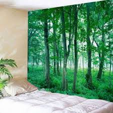 new art forest print tapestry home wall hanging tapestry room bedspread decor
