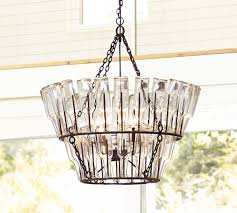 french bottle chandelier
