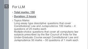 llm exam pattern  llm exam pattern