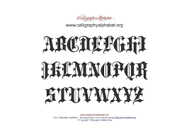 Gothic Calligraphy Pdf Chart