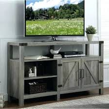 diy farmhouse corner tv stand tall entertainment center to inch barn door rustic gray c
