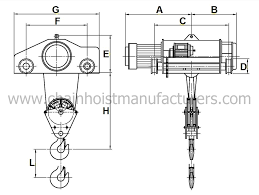 3 ton double rail electric wire rope hoist 3 ton double rail 3 ton double rail electric wire rope hoist dimensions mm