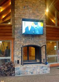 the best outdoor see through fireplace indoor outdoor see through wood burning fireplace indoor outdoor custom