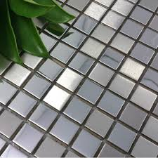 mirror mosaic tiles. silver metal mosaic tile smmt033 square stainless steel metallic wall tiles backsplash mirror
