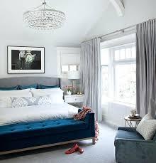blue velvet bench. Contemporary Bedroom Bench Blue Velvet Storage Y
