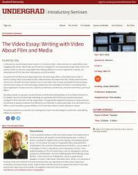 the video essay writing video about film and media  the video essay writing video about film and media