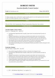 Quality Control Analyst Resumes Quality Control Analyst Resume Samples Qwikresume
