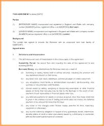 Investor Agreement Contract Business Investment Small Template Free