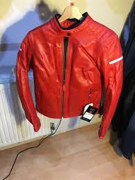 richa daytona lady leather jacket model 1dad400 colour red size 38 approximate retail gbp 270 urn ws10473 cur 65