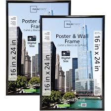 mainstays 16x24 trendsetter poster and picture frame black set of 2 com