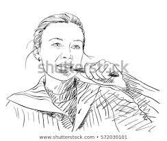 brushing teeth drawing. Contemporary Brushing Yooung Woman Brushing Her Teeth Vector Sketch Hand Drawn Illustration  Isolated On White Throughout Brushing Teeth Drawing B