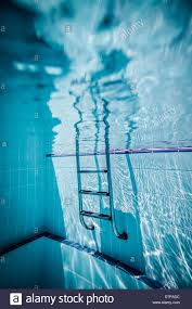 ladder pool under water stock image