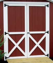 barn style front doorEntry Door Options  Barn Style Double Door  Lakeview Sheds