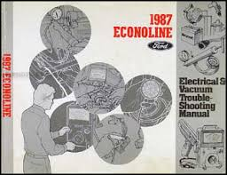 1987 ford econoline foldout wiring diagram 1987 ford econoline van club wagon electrical troubleshooting manual