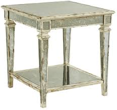 Image Modern End Table W Antique Mirror Insert Trade Fair International End Table W Antique Mirror Insert By Fine Furniture Design Wolf