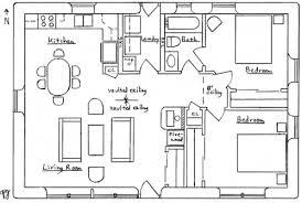 Simple Home Plans Bedrooms    Posh Great Simple Floor Plans For        Simple Home Plans Bedrooms    Impeccable Simple House Plan With Two Bedrooms