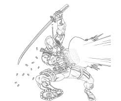 Deadpool Coloring Pages Getcoloringpagescom