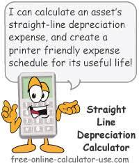 Fixed Asset Depreciation Calculator Straight Line Depreciation Calculator With Printable Schedule