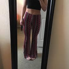 Patterned Yoga Pants Impressive Pants Brand New Patterned Flared Poshmark