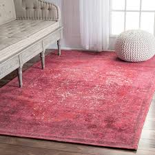 rugs usa traditional vintage fl medallion border red area rug