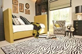 zebra area rug style
