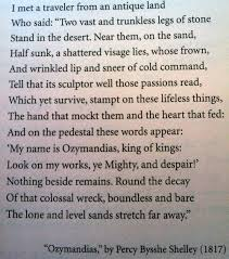 ozymandias by percy shelly this poem has so much meaning i love it  ozymandias by percy shelly this poem has so much meaning i love