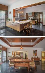 Kitchen And Dining Room Designs India Contemporary House With A Simple Layout Home Decor Kitchen