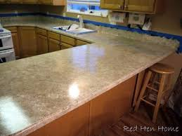 diy countertop using giani granite paint from red hen home blog