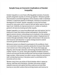gender inequality essay sample essay on effects of gender  here is your short essay on gender inequalitycheck out our top essays on gender inequality