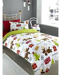 duvet covers this adorable reindeer brushed cotton single duvet cover set will add a touch