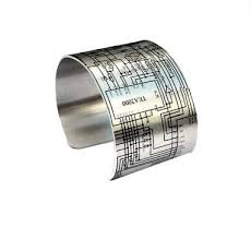 cheap timer circuit diagram timer circuit diagram deals on get quotations · circuit diagram cuff bracelet aluminum wide cuff