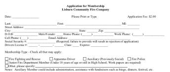Application For Membership Membership Application Lisburn Community Fire Company
