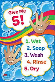 Amazon Com Daycare Posters Hand Washing Posters
