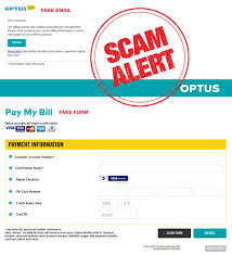 scammers use fake optus email to try for credit card information