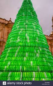 Christmas Decorations Made Out Of Plastic Bottles Christmas tree made from recycled plastic bottles in Arequipa 57