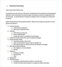 Format For An Executive Summary Business Executive Summary Template Magdalene Project Org