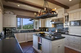 Hanging Pan Racks For Kitchen Classy Kitchen Room Themed Feat White Cabinets Paint Color And