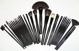 details about mac makeup brushes brush kits 32 brushes black