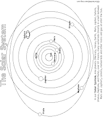 Small Picture Solar System PrintoutColoring Page Big version
