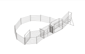 Cattle Yard Designs 10 Head Steel Save