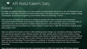 Autobiography of apj abdul kalam in english